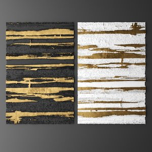 3d model of wall panels decor picture