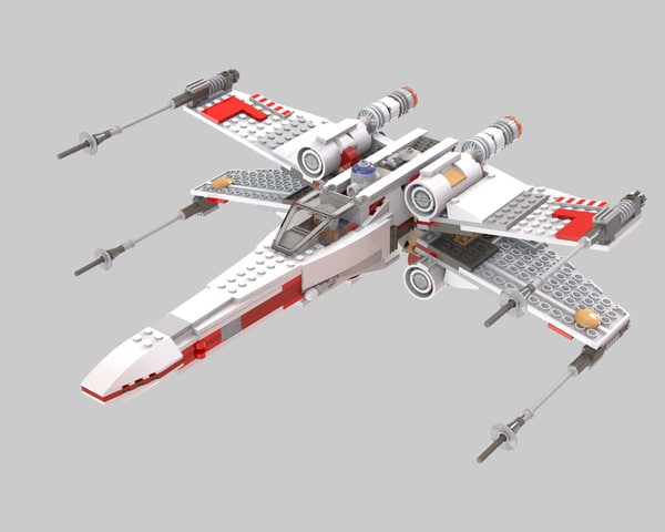 x-wing starfighter lego dxf