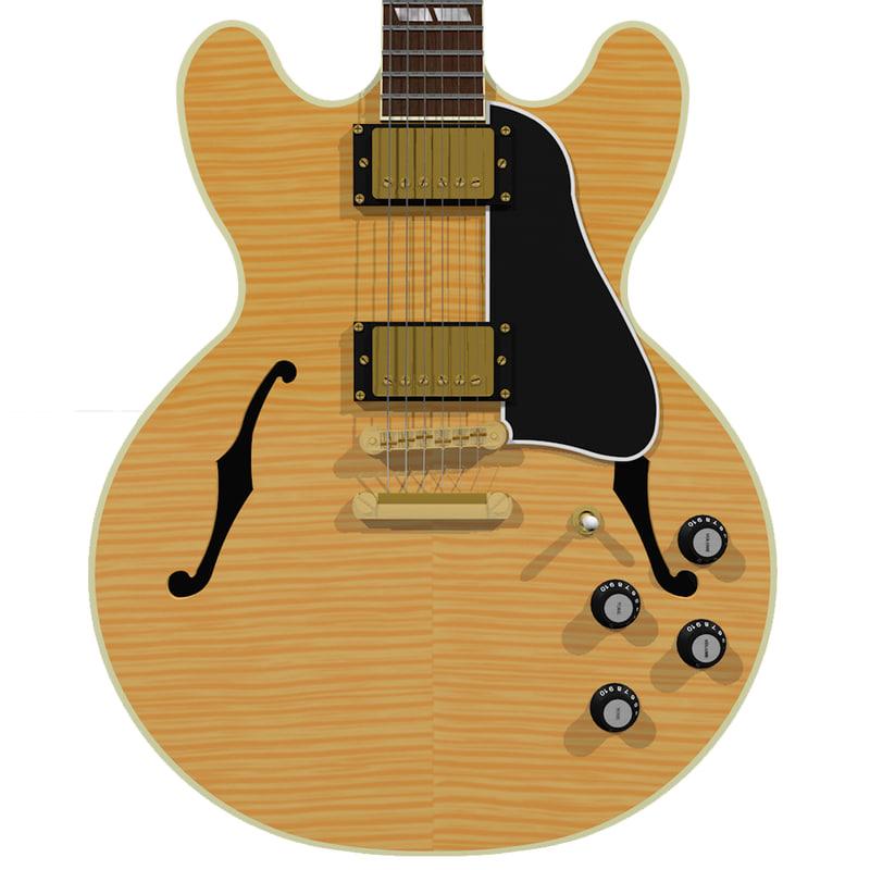 3d model guitar gibson es