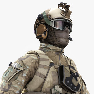 3d model special force soldier character