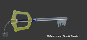 keyblade kingdom hearts 3d max