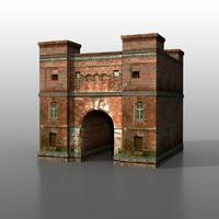 brest fortress 3d max