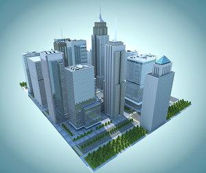 city streets 3d max