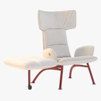 chair footrest 3d max