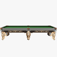 classic pool table 3d max