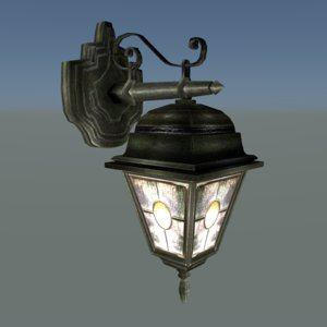 free street lamp lantern ready 3d model