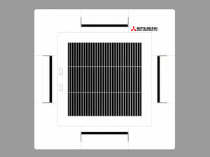 mitsubishi ceiling cassette air conditioner 3d model