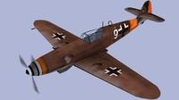me-109 aircraft 3d model
