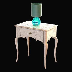 3d lamp table emerald bedside model