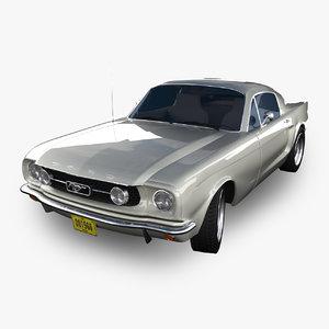3d model mustang 1966 car sport