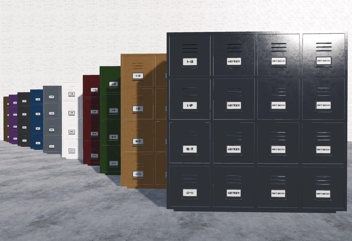 ready cabinets 3d fbx