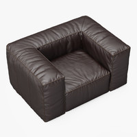 armchair scruffy chair 3d fbx