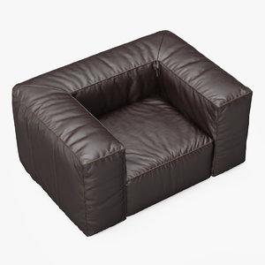 armchair scruffy chair 3d fbx