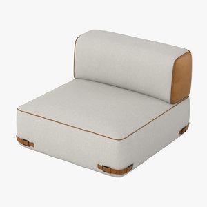 fendi soho sofa obj