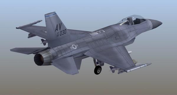 f16 falcon watermark 3D