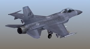 3d model f16 viper lod