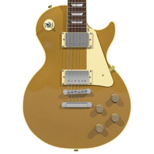 guitar gibson les c4d