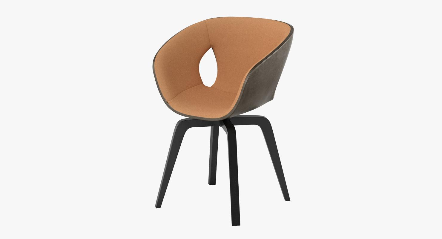 3d poltrana frau ginger chair