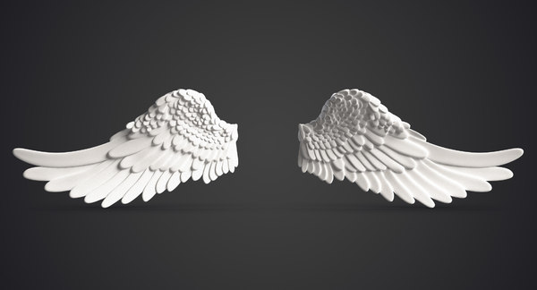 3ds max angel wings