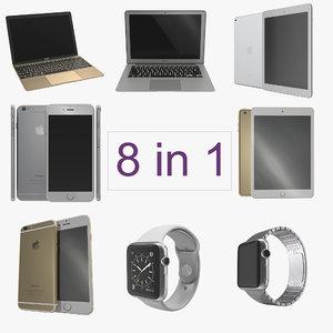 apple electronics 3 modeled 3d model