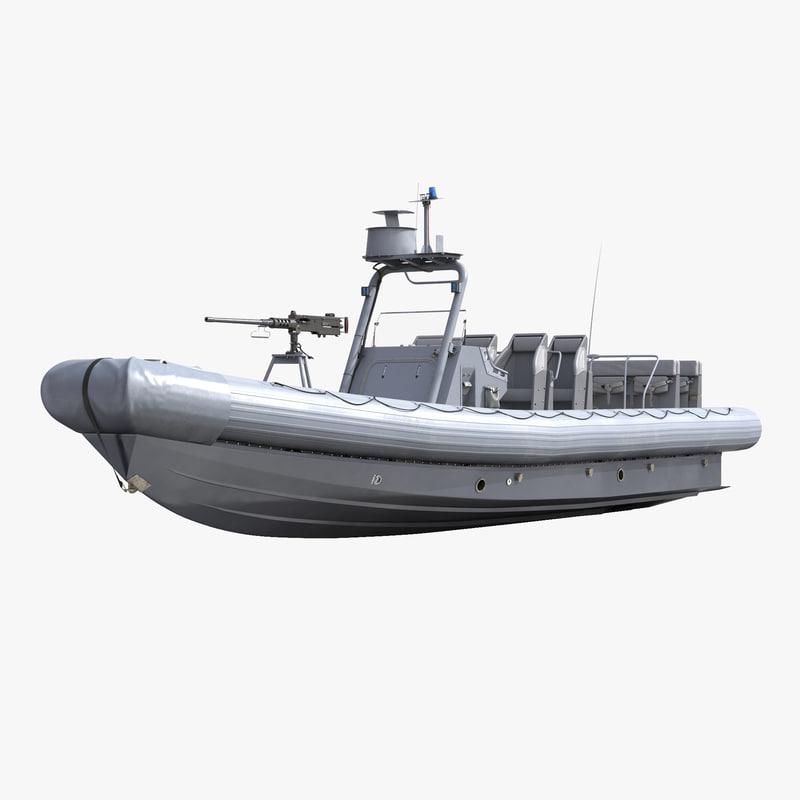 naval special warfare rigid 3d model