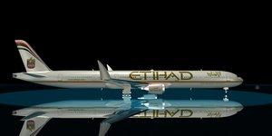 3d etihad boeing 777 9x model