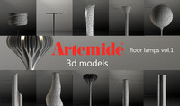 Artemide floor lamps vol 01