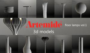 artemide floor lamps x