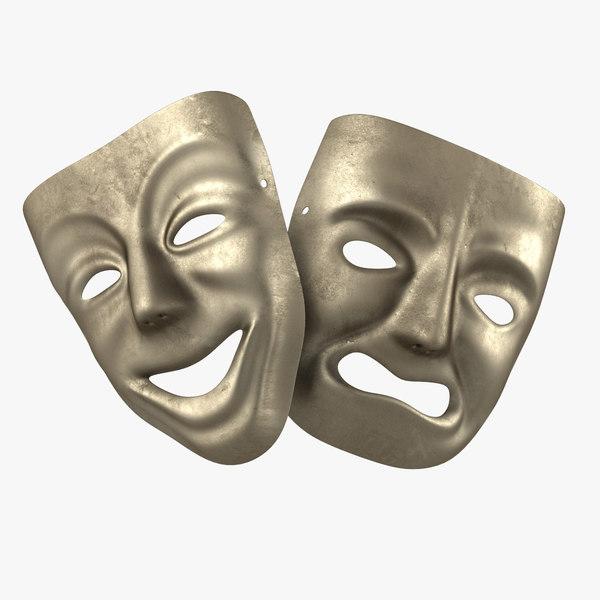 3d model theater masks