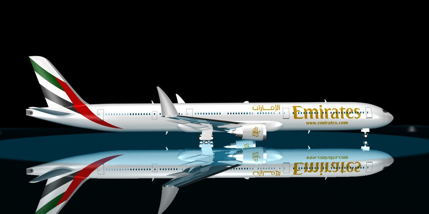 emirates boeing 777 9x 3d model
