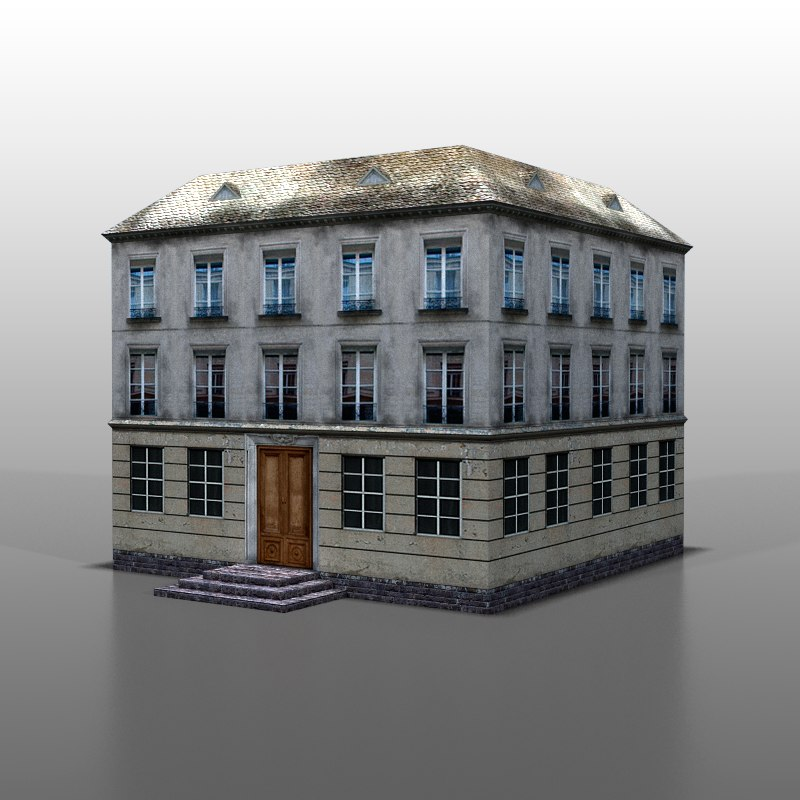 house french 3d max
