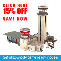Air Traffic Control Towers Set