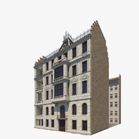 berlin apartment building houses 3d model