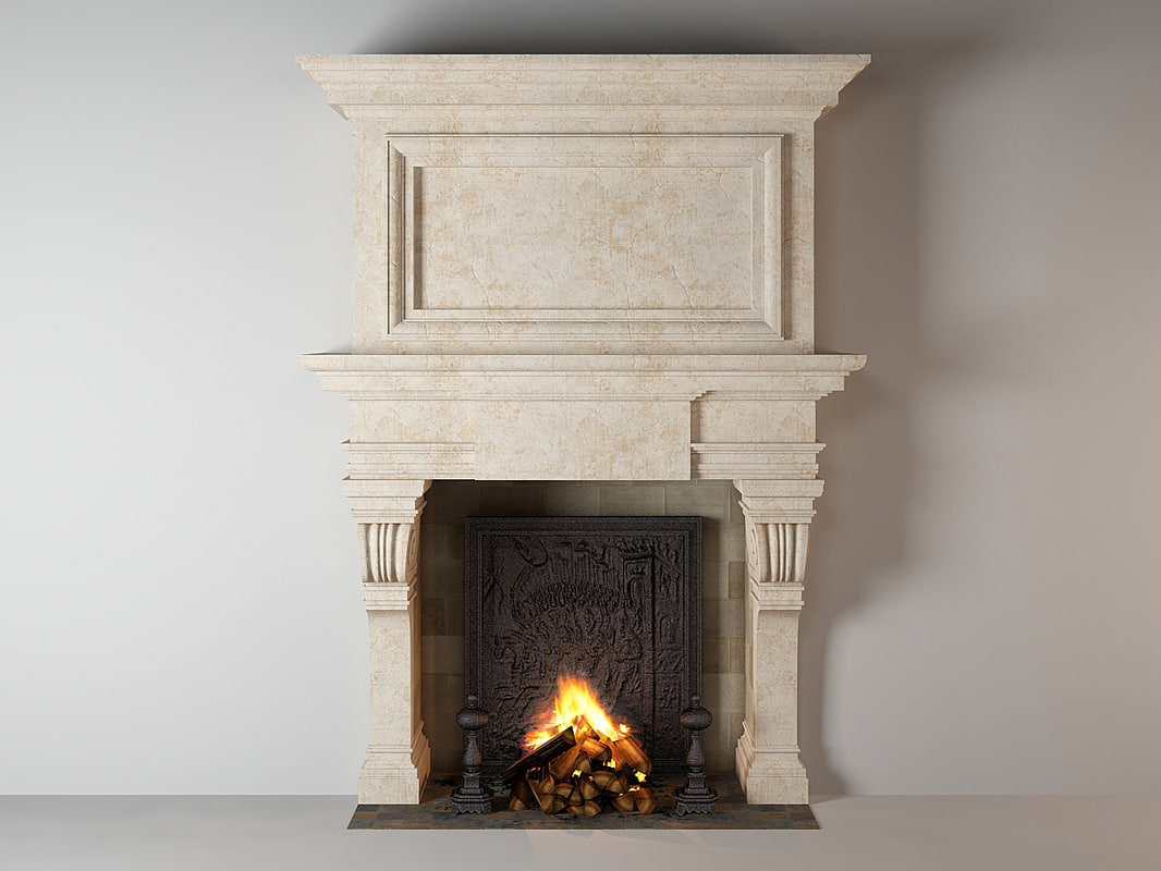 fireplace untitled 3d model