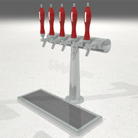 beer taps handles 3d model