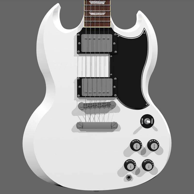 guitar gibson sg 3d model