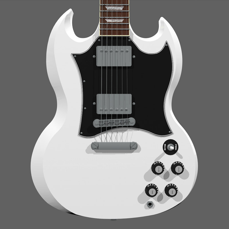 c4d guitar gibson sg
