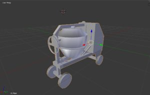 3ds cement mixer