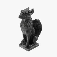 griffon statuette statue 3d model