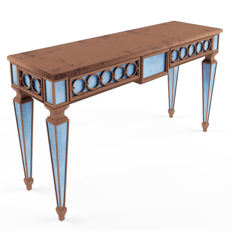 3d table console model