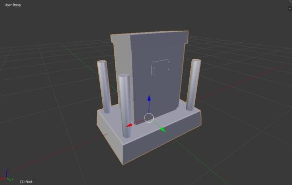 free obj mode electrical power box