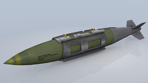 3d model resolution jdam bomb