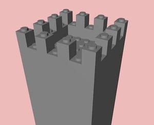 c4d lego castle tower 7x7