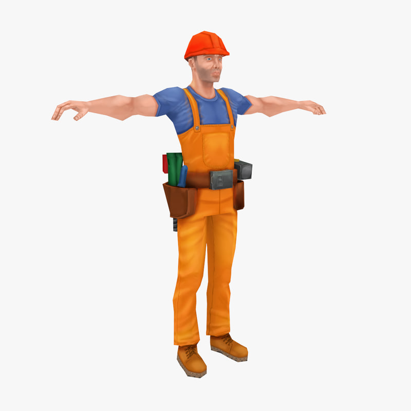 worker units 3d model