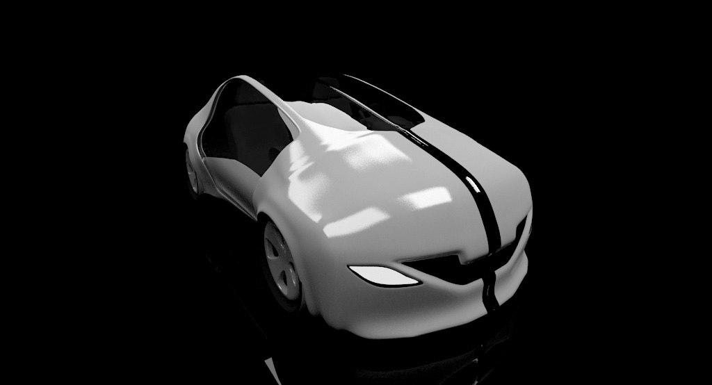 3d max futuristic car