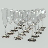 set glass bocals 3d model