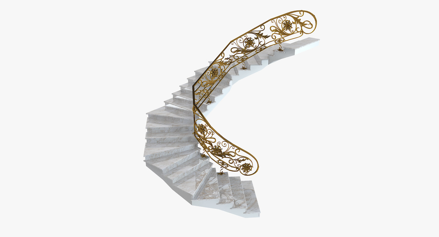 3ds max luxury stair