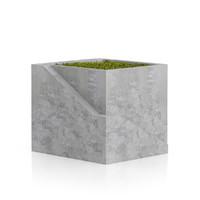 3d square moss pot