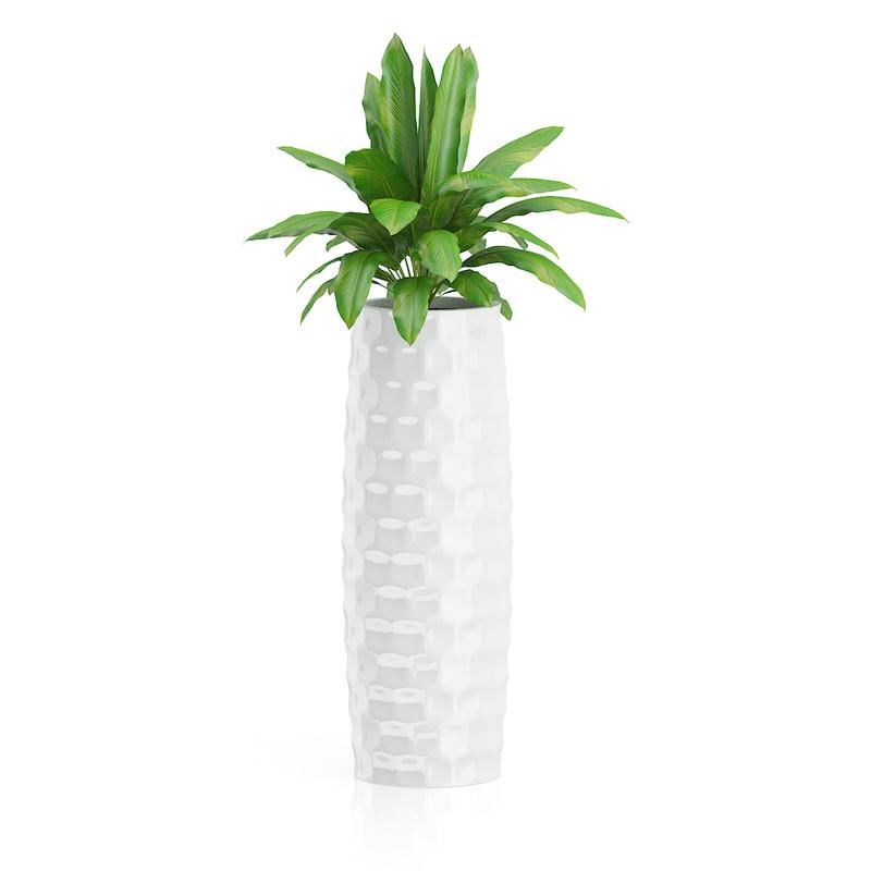 3d plant tall white