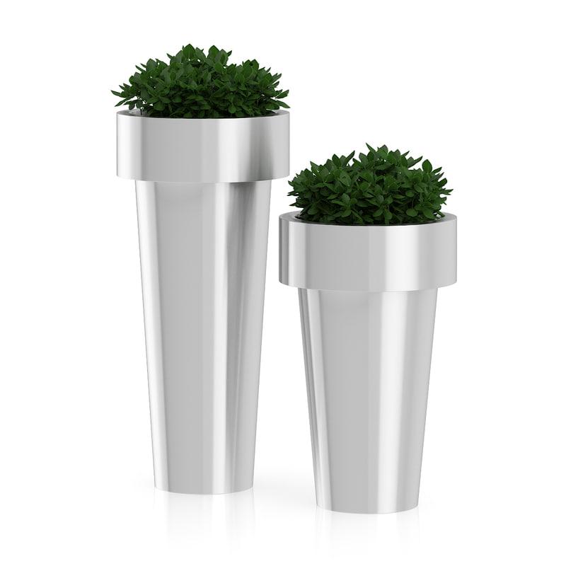 obj plants large metal